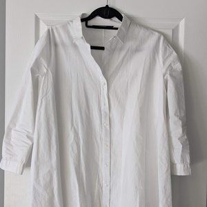 white A-line blouse tunic